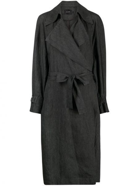 Прямое зеленое пальто классическое с карманами Low Classic