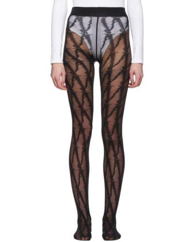 Rajstopy nylon z wzorem Versace