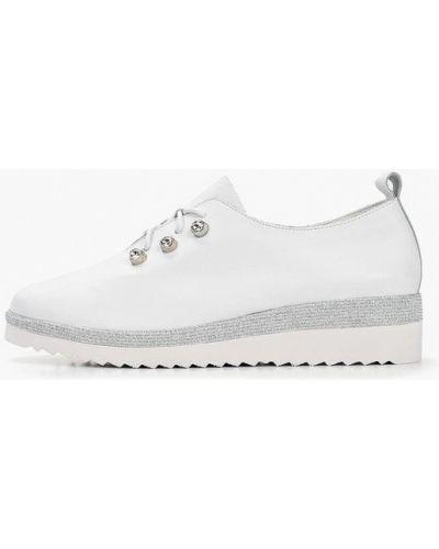 Ботинки на каблуке белые кожаные Baden