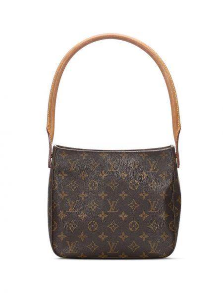 Сумка на плечо с леопардовым принтом коричневый Louis Vuitton
