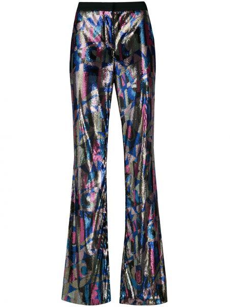 Расклешенные брюки с пайетками с потайной застежкой Emilio Pucci