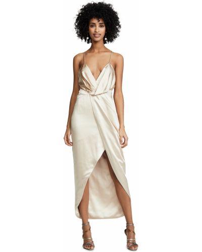 Платье с декольте с подкладкой на крючках Fame And Partners