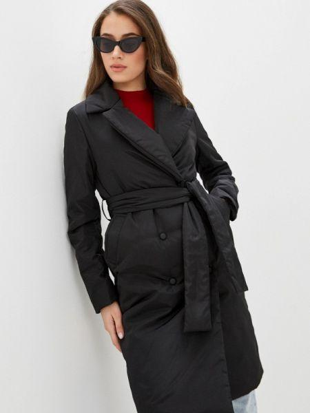 Теплая черная утепленная куртка Self Made