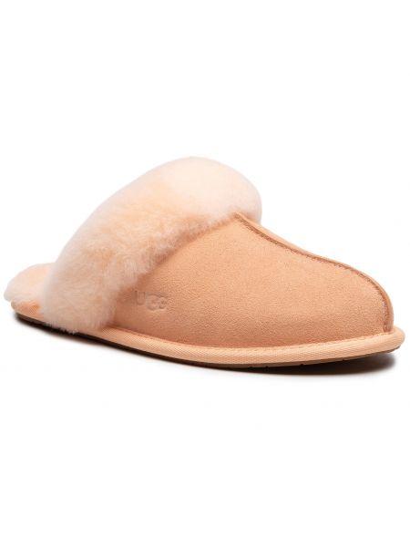 Sandały skórzane - pomarańczowe Ugg