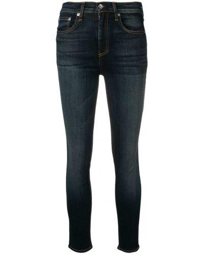 Укороченные зауженные джинсы - синие Rag & Bone/jean