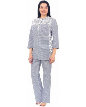 Пижама в клетку синий инсантрик