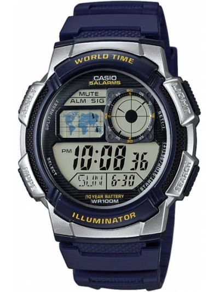 Zegarek srebrny - granatowy Casio