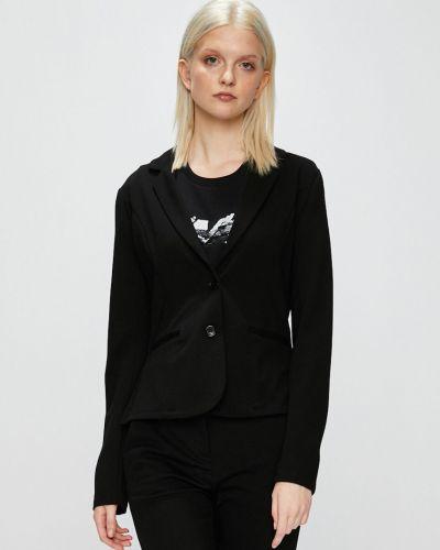 Черный пиджак в стиле кэжуал Vila