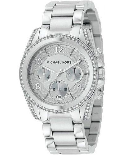 Кварцевые часы водонепроницаемые с камнями с люминесцентными стрелками Michael Kors