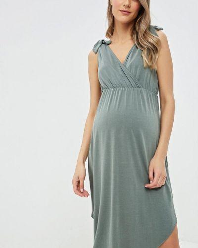Платье для беременных весеннее хаки Mama.licious