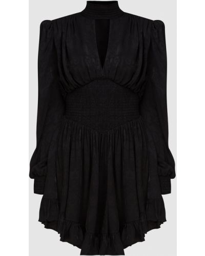 Черное платье миди Versace Jeans Couture