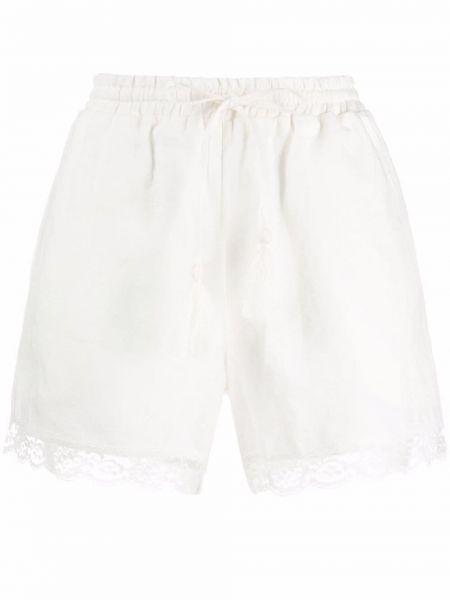 Нейлоновые кружевные белые шорты с карманами Gold Hawk