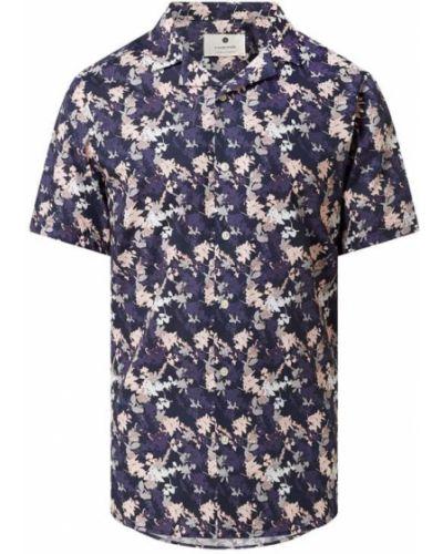 Różowa koszula krótki rękaw bawełniana Anerkjendt