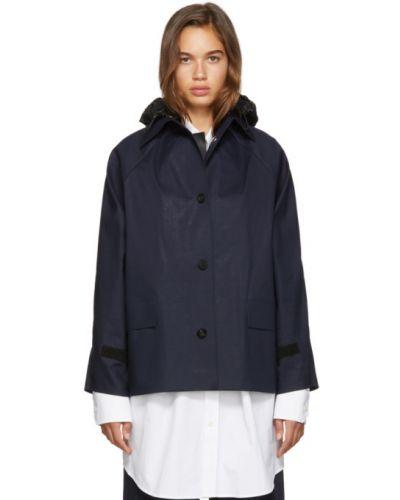 Кожаная куртка с капюшоном черная Kassl Editions