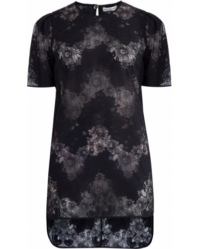 Блузка с цветочным принтом с драпировкой Emanuel Ungaro