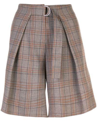 Коричневые шорты с карманами Tibi