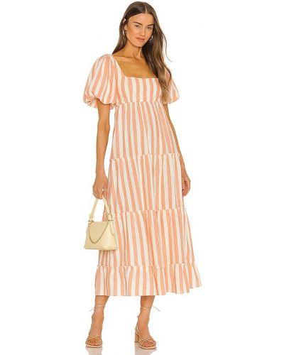 Оранжевое платье миди с нашивками Show Me Your Mumu
