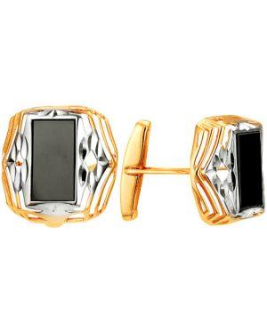 Запонки с ониксом из золота караваевская ювелирная фабрика