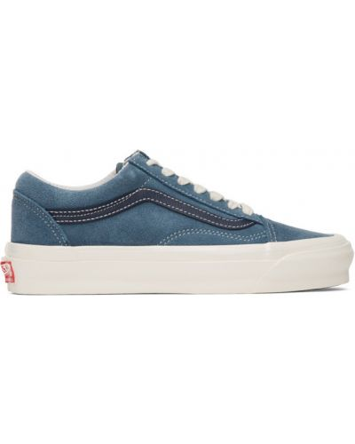 Skórzane sneakersy białe sznurowane Vans