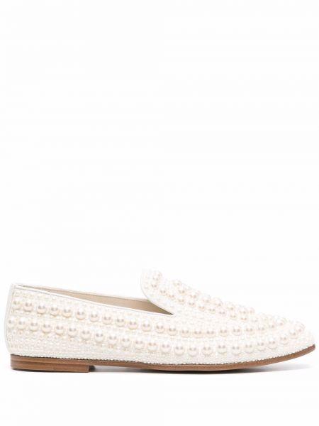 Loafers - białe Jimmy Choo
