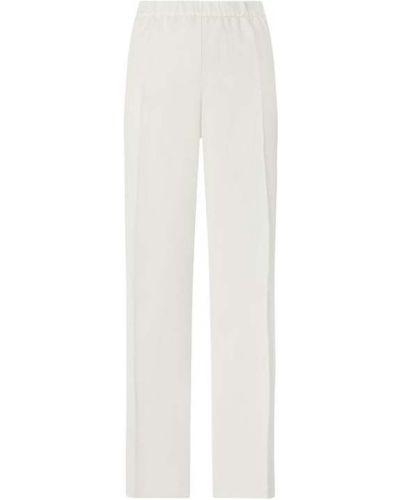 Białe spodnie materiałowe Samoon