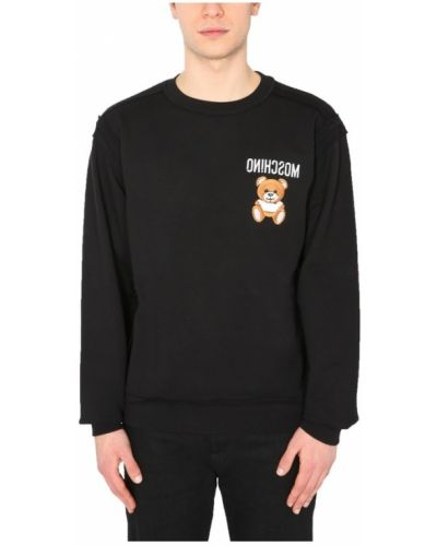 Bluza z haftem bawełniana oversize Moschino