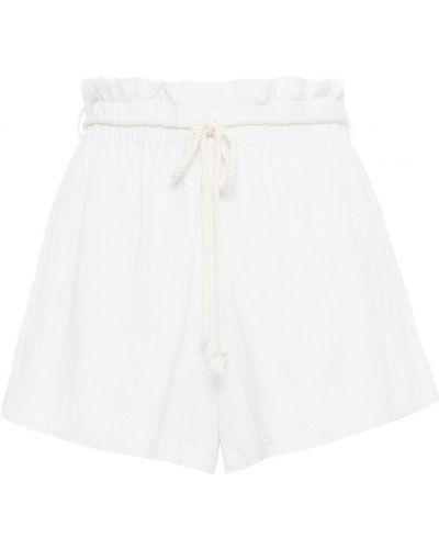 Białe szorty z paskiem Onia