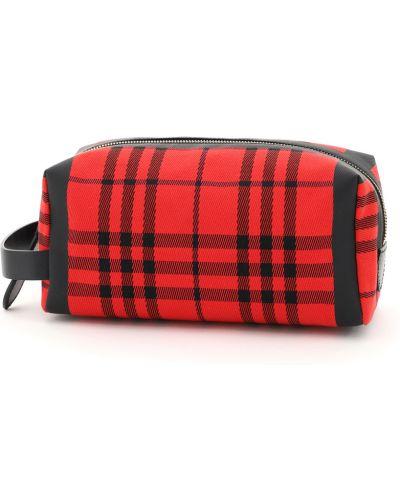 Czerwona torebka w paski Burberry