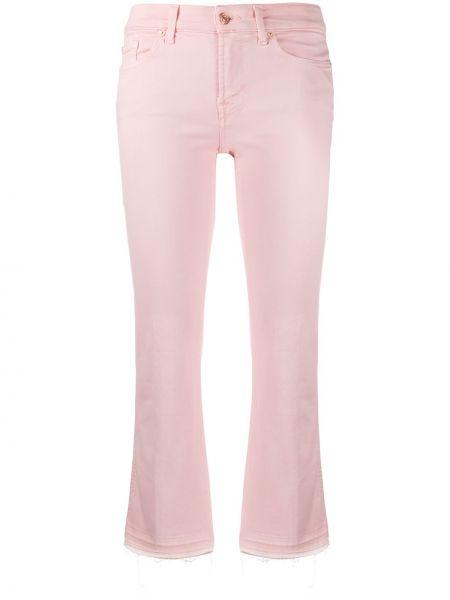 Укороченные брюки розовый с поясом 7 For All Mankind