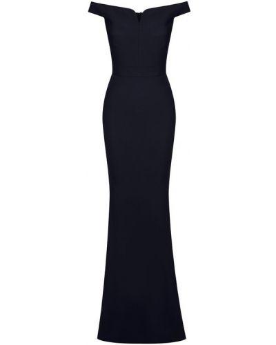 Платье макси с декольте из вискозы Alexander Mcqueen