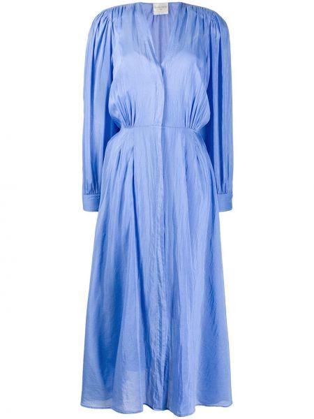 Платье макси с V-образным вырезом приталенное Forte Forte