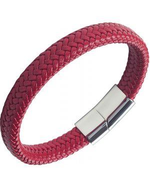 Плетеный браслет кожаный серебряный Anton Smith