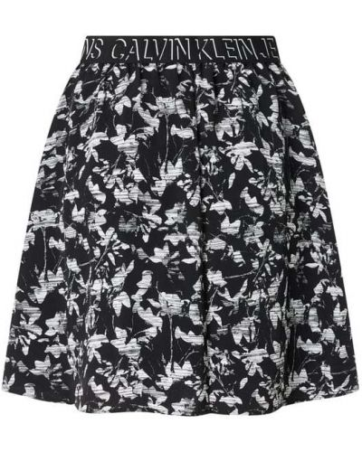 Czarna spódnica z paskiem Calvin Klein Jeans
