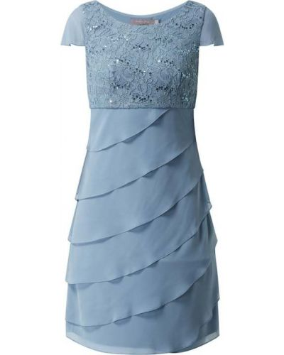 Sukienka koktajlowa z cekinami - niebieska Christian Berg Cocktail