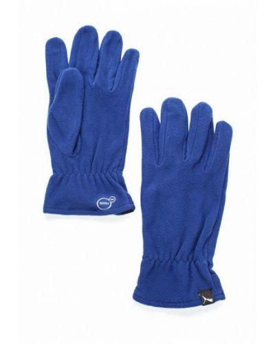 Синие перчатки Puma