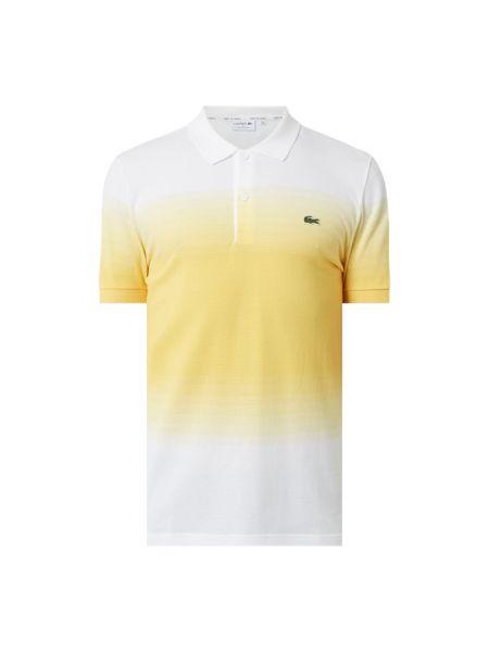 T-shirt bawełniana - żółta Lacoste