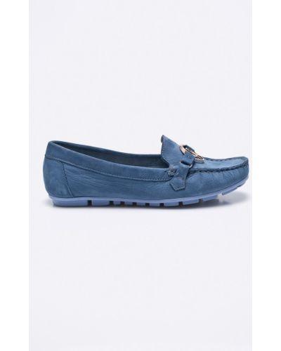 Синие мокасины кожаные Carinii