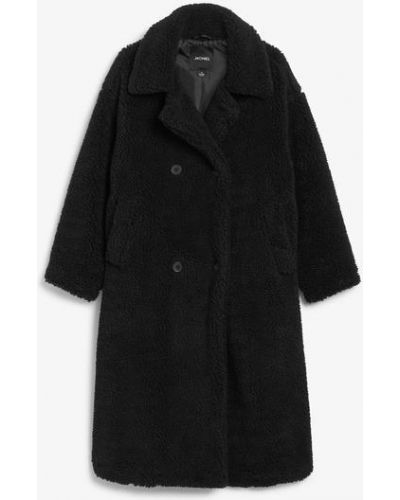 Плюшевое пальто - черное Monki