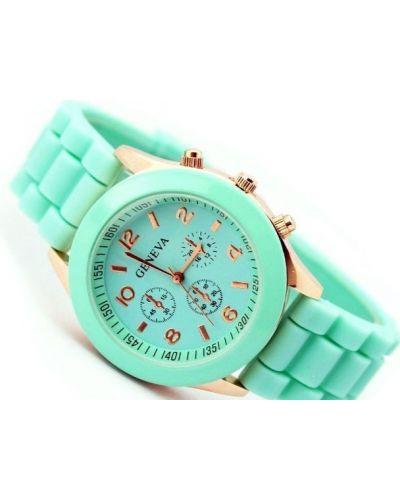 Klasyczny zielony złoty zegarek Geneva