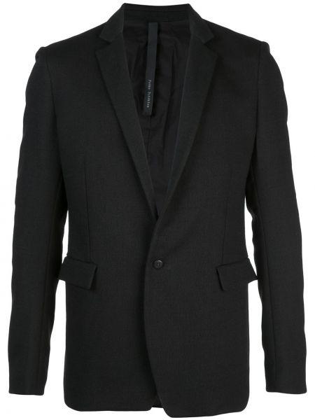 Черный пиджак на пуговицах с манжетами с карманами Poème Bohémien
