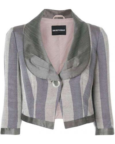 Прямой пиджак винтажный на пуговицах с рукавом 3/4 Emporio Armani Vintage
