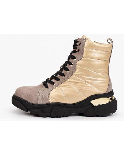 Текстильные бежевые ботинки Escan