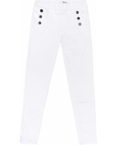 Леггинсы белые джинсовые Polo Ralph Lauren Kids