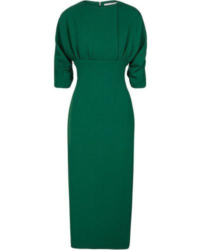 Wełniany zielony sukienka midi Emilia Wickstead