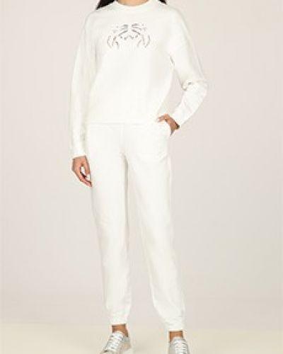 Костюмный хлопковый белый спортивный костюм Ermanno Scervino