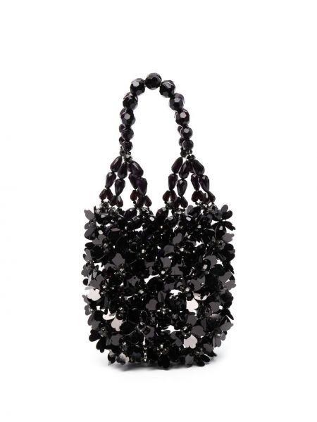 Czarna torebka mini z akrylu Simone Rocha