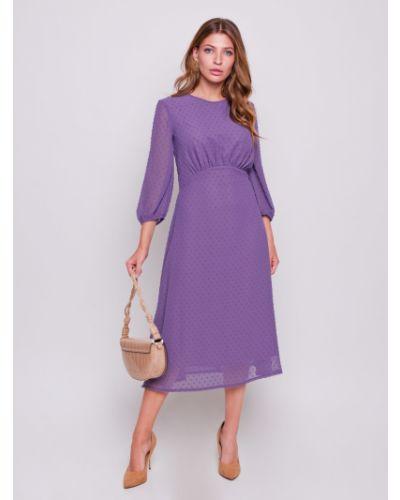 Повседневное платье миди - фиолетовое Grandua