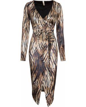 Платье мини миди бархатное Bonprix