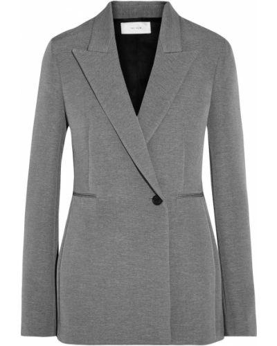 Серый пиджак двубортный с карманами The Row