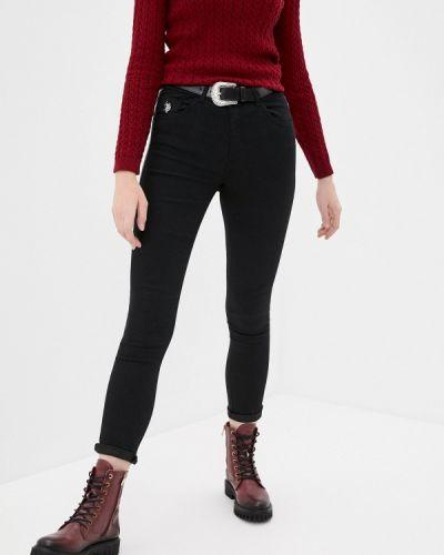 Черные джинсы-скинни узкого кроя U.s. Polo Assn.